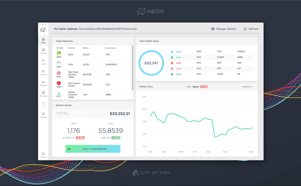 Neon Wallet disponible en version 2.1.0
